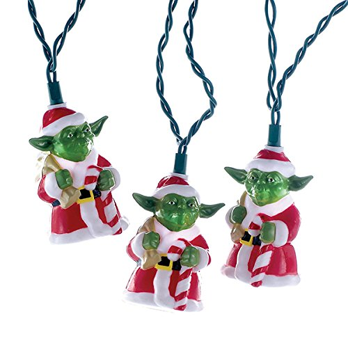 Kurt Adler UL 10-Light Star Wars Santa Yoda Light Set