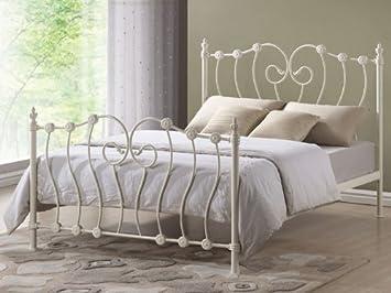 inova ivory king size 5ft metal bed frame
