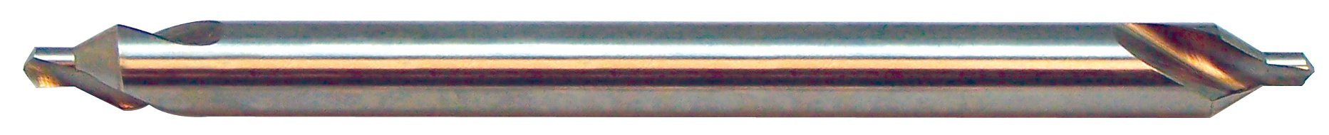 KEO 29706 Long Series Solid Carbide Combined Drill and Countersink, Uncoated (Bright) Finish, 60 Degree Point Angle, Round Shank, 5/8'' Body Diameter, 1/4'' Point Diameter, 6'' Overall Length