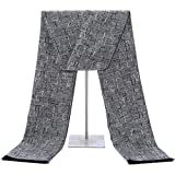 Soft Cashmere Scarf for Men - Long Mens Scarf Cashmere Feel For Spring Summer Winter Mens Scarfs Fashion Shawls Color Grey
