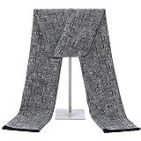 Soft Cashmere Scarf for Men - Long Mens Scarf Cashmere Feel For Spring Summer Winter Mens Scarfs Fashion Shawls Color Grey