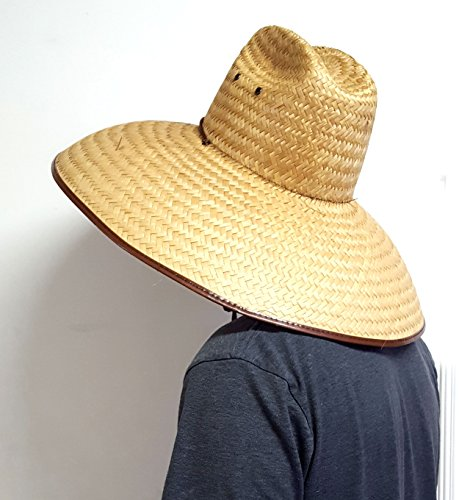 Voyager Tools Double Weaved Hard Shell Shade Hat Large Fit Wide Brim Straw  Hat 0c7bae63f689