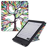 "BOZHUORUI Case for All-new 7"" Kobo Libra H2O e-Books readers,Premium PU Leather Multiangle Stand Shell Cover with Auto Sleep/Wake (Lucky tree)"