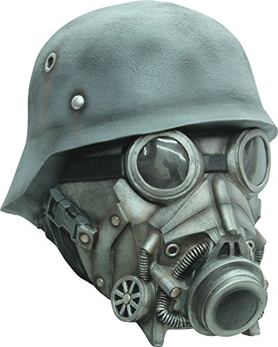 Chemical Warfare Adult Latex Mask Halloween Costume - Most Adults - Chemical Warfare Mask