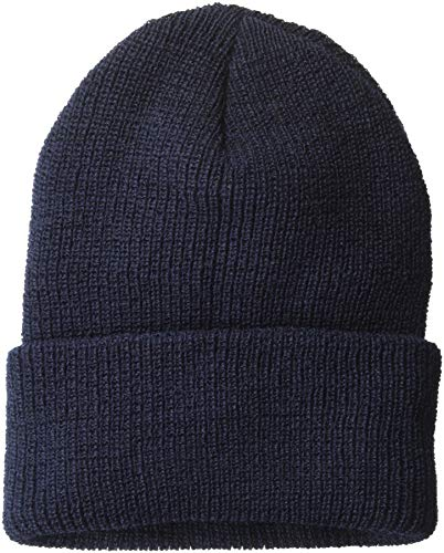 Wigwam Men's 1015 Wool Ribbed Watch Cap, Navy, One Size