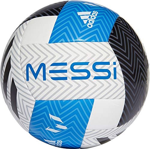 adidas Messi Glider Soccer Ball (4, Blue/Black/White)