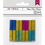 American Crafts 1600-Staple DIY Shop Stapler Refills, Mini, Colored