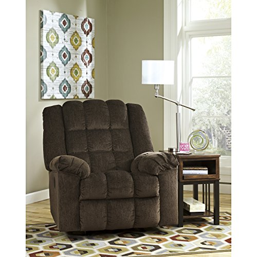 - Flash Furniture Signature Design by Ashley Ludden Power Rocker Recliner in Cocoa Twill