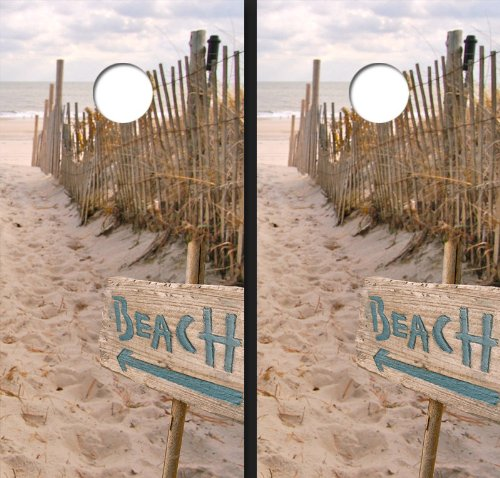 Beach Sign Theme Cornhole Boards by Custom Tailgate (Image #1)