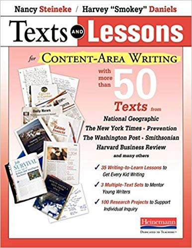 - [0325077673] [9780325077673] Texts and Lessons for Content-Area Writing: With More Than 50 Texts from National Geographic, The New York Times, Prevention, The Washington Post, Smithsonian, Harvard Business Review and Many Others-Paperback