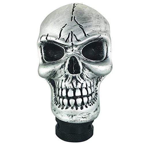 (Abfer Skull Gear Stick Shift Knob Universal Automatic Manual Shifter Knobs for Car Truck (Silver))