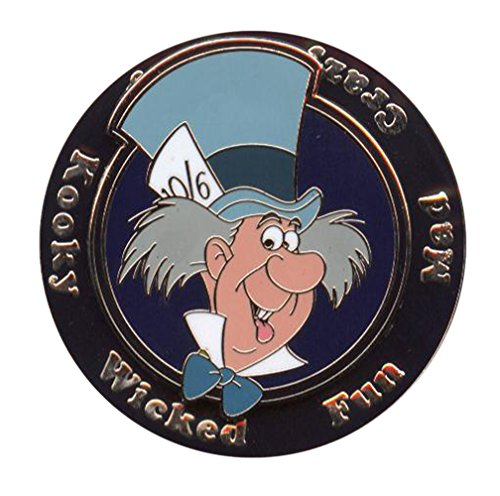 (Disney Pin - Mad Hatter – Mad Crazy Silly Kooky Wicked)