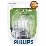 Philips 7440 LongerLife Miniature Bulb, 2 Pack