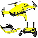 MightySkins Skin For DJI Max Coverage - Solid Yellow | Protective, Durable, and Unique Vinyl Decal wrap cover | Easy To Apply, Remove, and Change Styles | Made in the USA