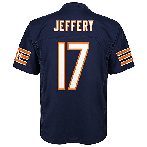 (Outerstuff Alshon Jeffery NFL Chicago Bears Mid Tier Replica Navy Blue Jersey Youth (S-XL))