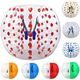 ANCHEER Inflatable Bumper Bubble Soccer Ball Dia 5 ft (1.5m) Giant Human Hamster Ball for Adults and Kids (red dot 1, 5 FT)