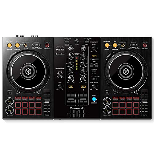 DJDKZQ DJ Controller Two-Channel, Four-Deck Upgrade MIDI Controller, Disc Audio Mixing Console, Mixer, Electronic Music Equipment Pads,Nightclub Party Stage