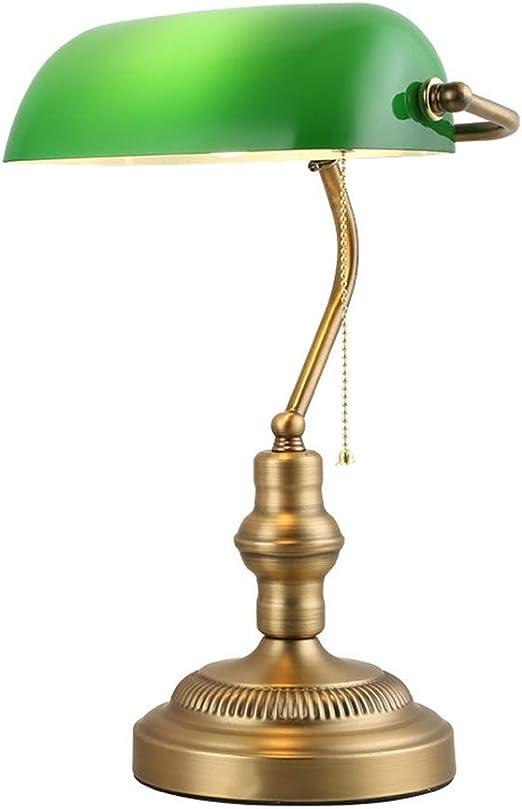 STEAM PANDA Antigua lámpara de Escritorio Tradicional de Bronce ...