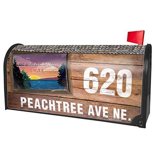 NEONBLOND Custom Mailbox Cover Lake Retro Design Fort Patrick Henry Lake -