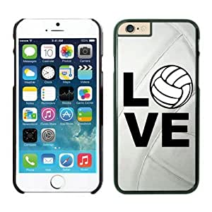 Iphone 6 Case 4.7 Inches, Diy Black TPU Soft Iphone 6 Case Cover Love Volleyball Keep Calm Play on Volleyball Player