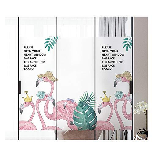 DEWUFAFA Privacy Window Film, One Way Silver Reflective Adhesive Window Film, Anti UV Heat Control Sun Blocker, Privacy Protection Glass Tint Sticker, 90 x 200 cm(35.4 x78.7 inch)