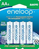 eneloop AA 1800 cycle,  Ni-MH Pre-Charged Rechargeable Batteries, 8 Pack (discontinued by manufacturer)