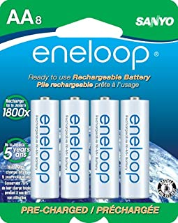 Eneloop 2000Mah Typical 1900Mah Minimum 1500 Cycle 8-Pack AA Ni-MH Pre-Charged Rechargeable Batteries (SECHR3U8BPN)(Discontinued by Manufacturer) (B004UG41XW) | Amazon price tracker / tracking, Amazon price history charts, Amazon price watches, Amazon price drop alerts