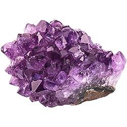 rockcloud Natural Purple Amethyst Quartz Crystal Cluster Geode Druzy Home Decoration Gemstone Specimen