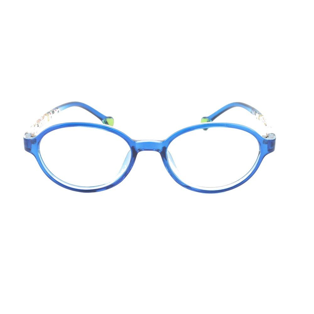 ed6d6460dd1b Amazon.com: EyeBuyExpress Prescription Boys Girls Blue Clear Cool Reading  Glasses Childrens Anti Glare Quality +0.50: Health & Personal Care