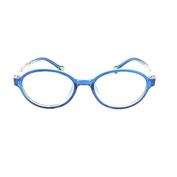 b28bc0fb8500 EyeBuyExpress Prescription Boys Girls Blue Clear Cool Reading Glasses  Childrens Anti Glare Quality +0.50