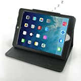 Apple iPad Air Leather Case / Cover (Handmade Genuine Leather) - Book Type Ver. 2 (Black) by Pdair