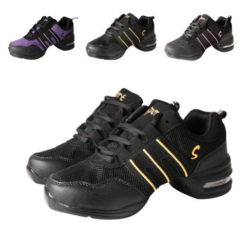 Hip Para Mujer Y Deportivos Jazz Zapatos De Dorado Tango Hop Baile Danza Yfch Negro Moderna 0HxvOPP