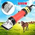 BOFEISI Electric Horse Fur Shears,Livestock Haircut Trimmer 110V-240V 320W 2400R / Min for Llama Cattle Animals Thick Coat