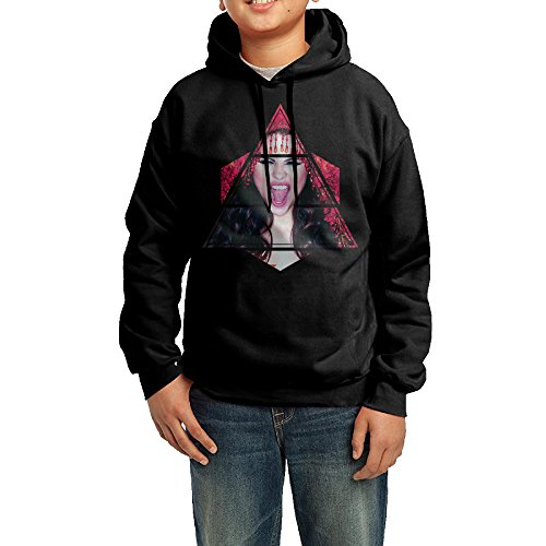 [GGDD Boys & Girls Selena Gomez Kill Em With Kindness Rowing Particular Hoodie Hooded Sweatshirt Leisure Style L Black] (Korean National Costume For Girls)