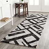 "Safavieh Porcello Collection PRL3730B Black and Grey Area Rug, 2 feet 7 inches by 5 feet (2'7"" x 5')"