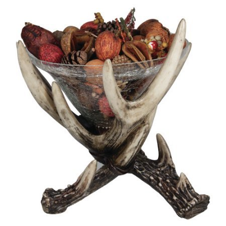 REP Deer Antler Glass Dish 10