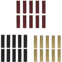 PETSOLA 300X Gélules Capsules Thermorétractable pour Brassage de Bouteilles de Vin/Noir + Or + Bourgogne
