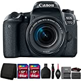 Canon EOS 77D Digital SLR Camera with 18-55mm Lens and Accessories