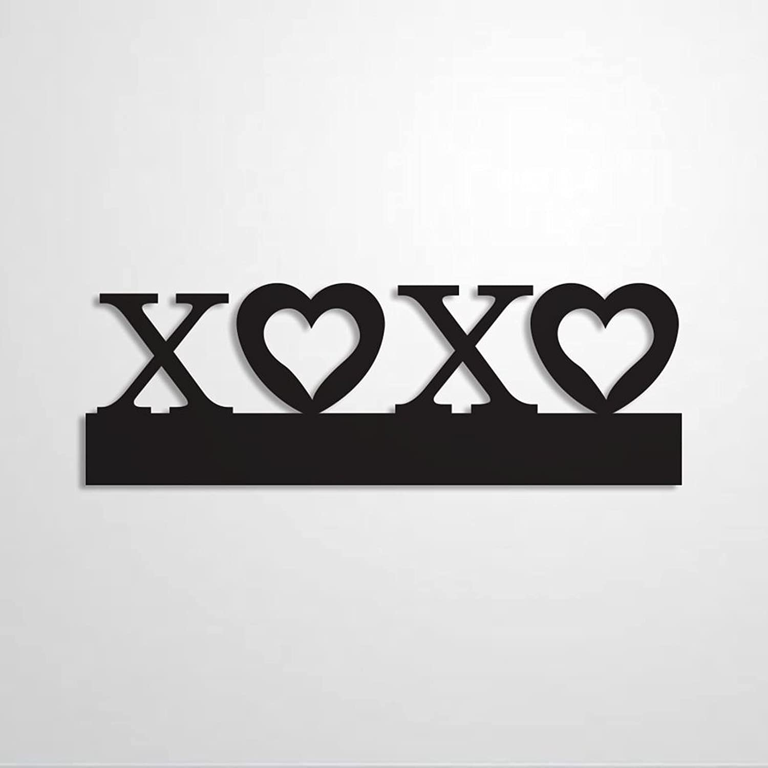 EricauBird XOXO Art Letters Xo Valentines Mothers Anniversary New Personalized Metal Sign, Door Hanger & Metal Wall Hanging Decor for Independence Day,Home, Living Room, Kitchen.