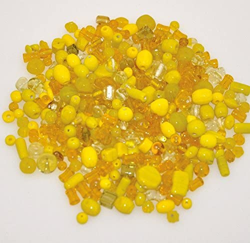 Playbox 200g Glass Beads Yellow