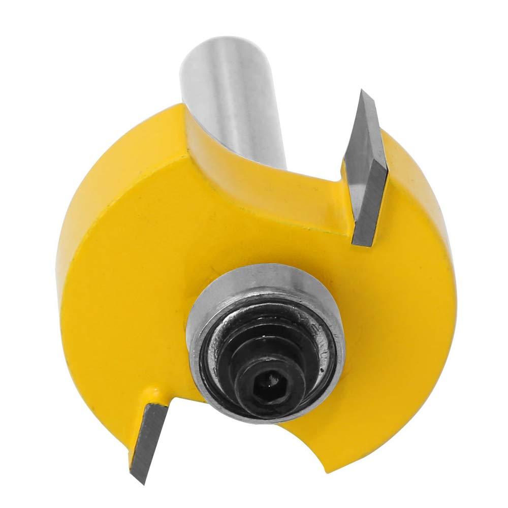 Gasea 6.35mm Tige Fraise de D/éfonceuse /à Feuillure Routeur Bit Avec 6 Roulements Pour Plusieurs Profondeurs 28,6mm 12,7mm 15,9 mm 19,05mm 22,2mm 9,52mm Outil de Menuiserie