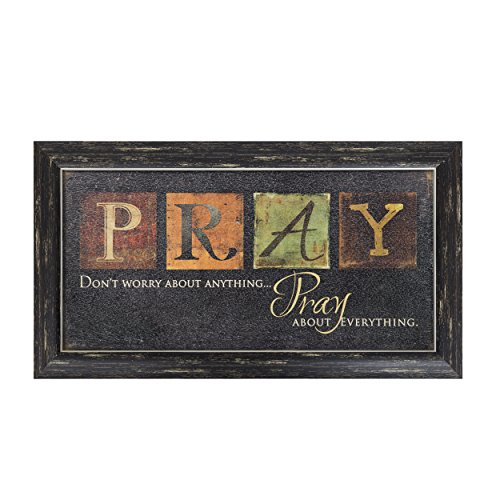(Besti Premium Home Country Inspirational Marla Rae Hanging Wall Art Primitive Americana Decorative Plaque – Rustic Style Décor Sign with Saying – Excellent Quality Polystyrene (Pray))