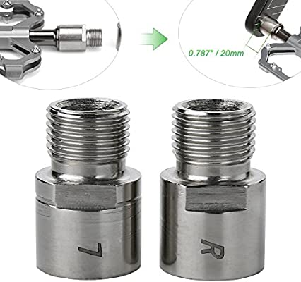 """Bicycle Titanium Pedal Extender 9//16/"""" Thread 20mm Long Left/&Right Bike Extend"""