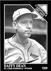 Daffy Dean Baseball Card St Louis Cardinals World Series Champion 1992 Sporting News Conlan