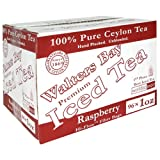 Walters Bay & Company, Pure Ceylon Premium Iced Tea, Raspberry Flavored,  96-Count, 1-Ounce Pouches