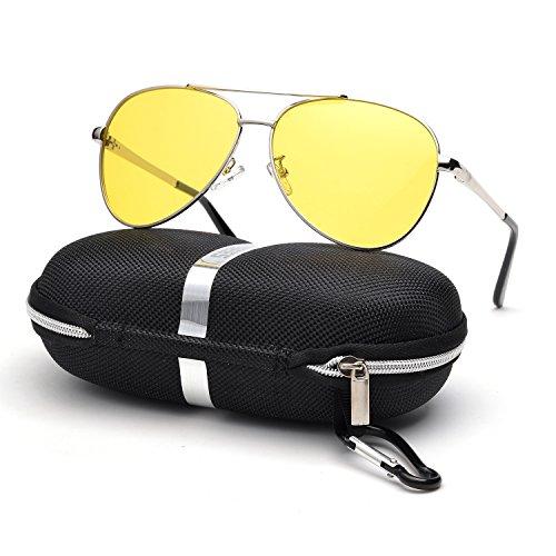 d46df30027 Galleon - HD Night Driving Glasses For Men Women Anti-glare Safety Glasses
