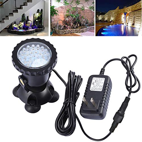 COVOART Pond Lights Waterproof IP68 Underwater Aquarium Spotlight 36-LED Color Changing Submersible Lamp Landscape Lamp for Swimming Pool Fish Tank Fountain Waterfall by COVOART