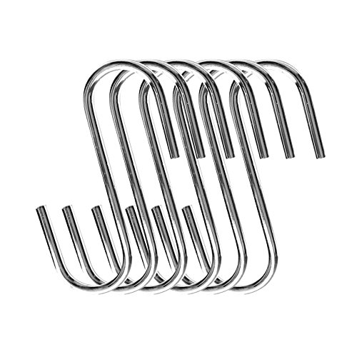 Cooks Standard 4-Inch/10cm Steel S Shaped Pot Rack Hooks, Set of 6