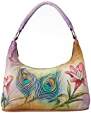 Anuschka 371 Top Handle Bag,Peacock Flower,One Size