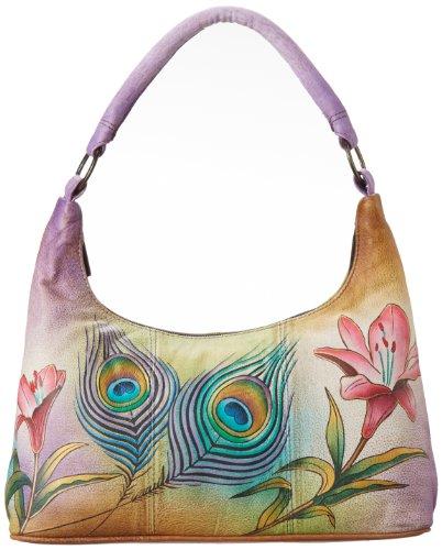 Anuschka 371 Top Handle Bag,Peacock Flower,One Size by Anna by Anuschka